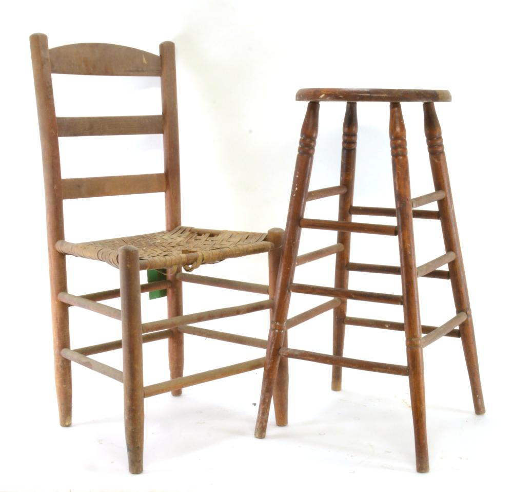 Country Chair And Stool