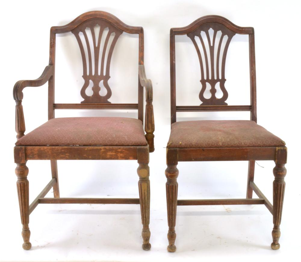 Pair Federal Style Mahogany Chairs