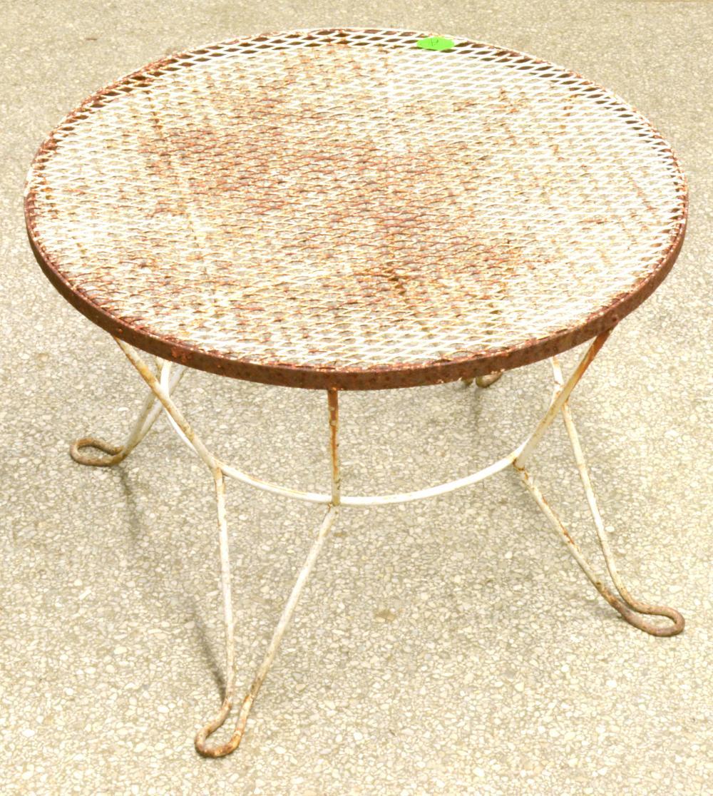 Vintage Wrought Iron Garden Small Table