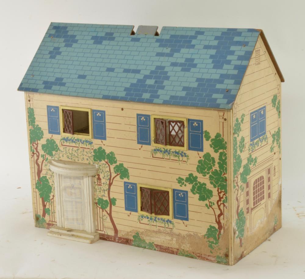 Vintage Tin Litho Doll House