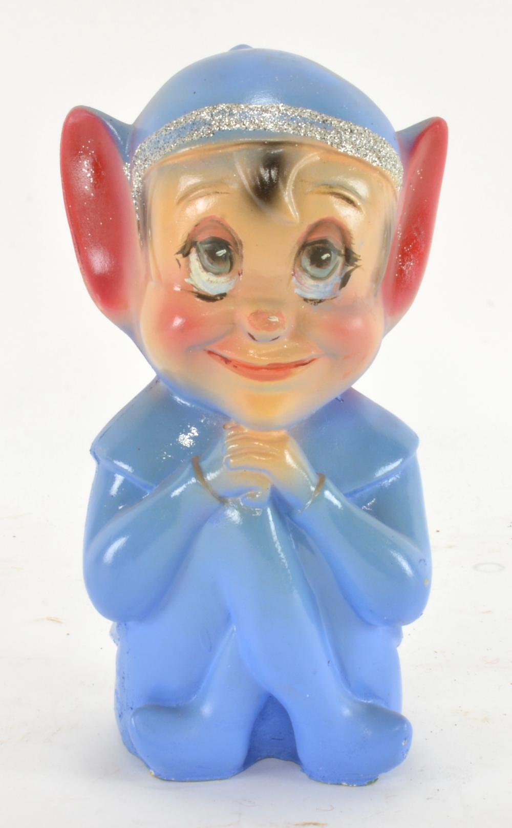 Vintage Knee Hugging Elf Pixie Chalkware Bank