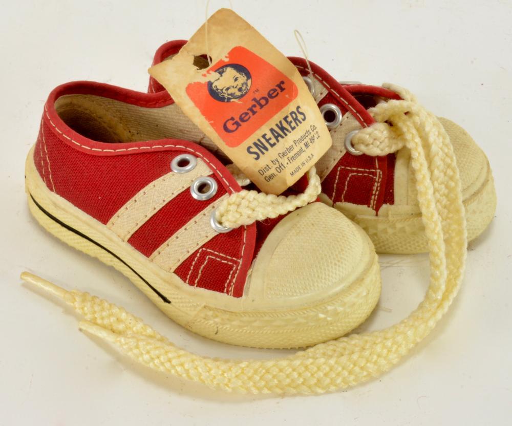 Vintage Gerber Baby Sneakers Shoes