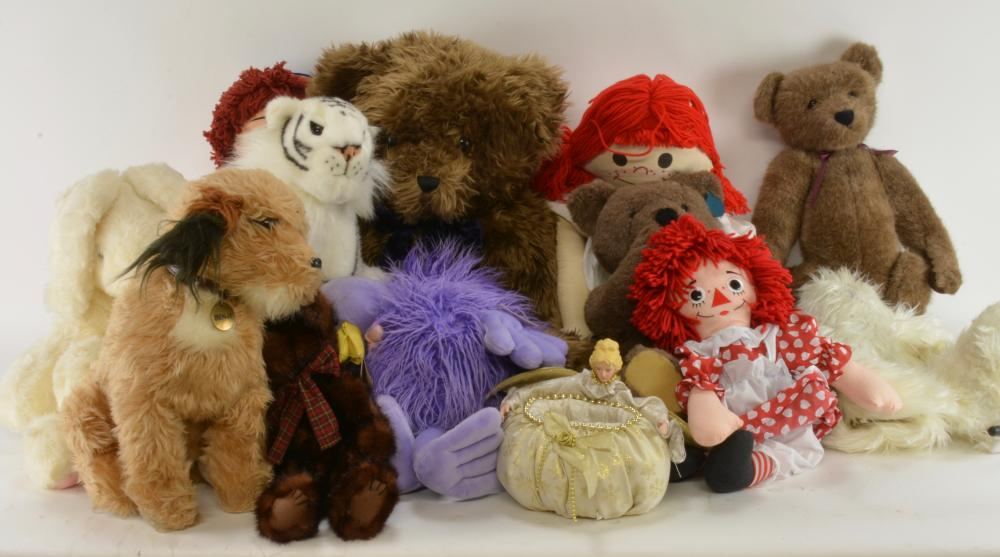 Vintage Stuffed Toy Animal & Dolls Collection