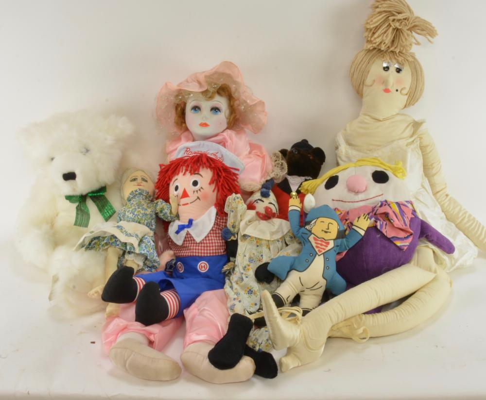 Vintage Stuffed Toy Dolls & Bears Collection