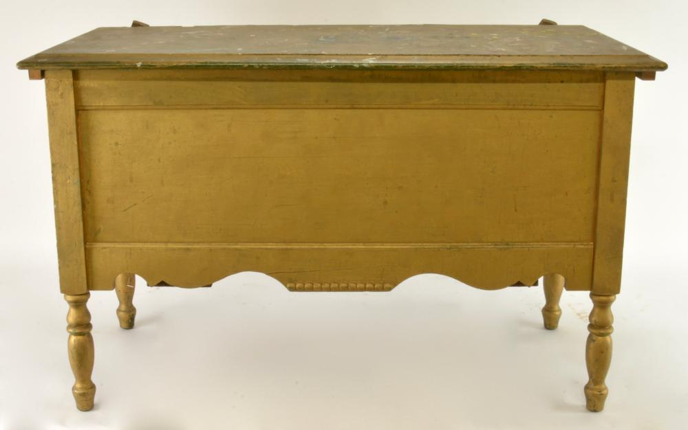 Antique Blanket Or Toy Chest