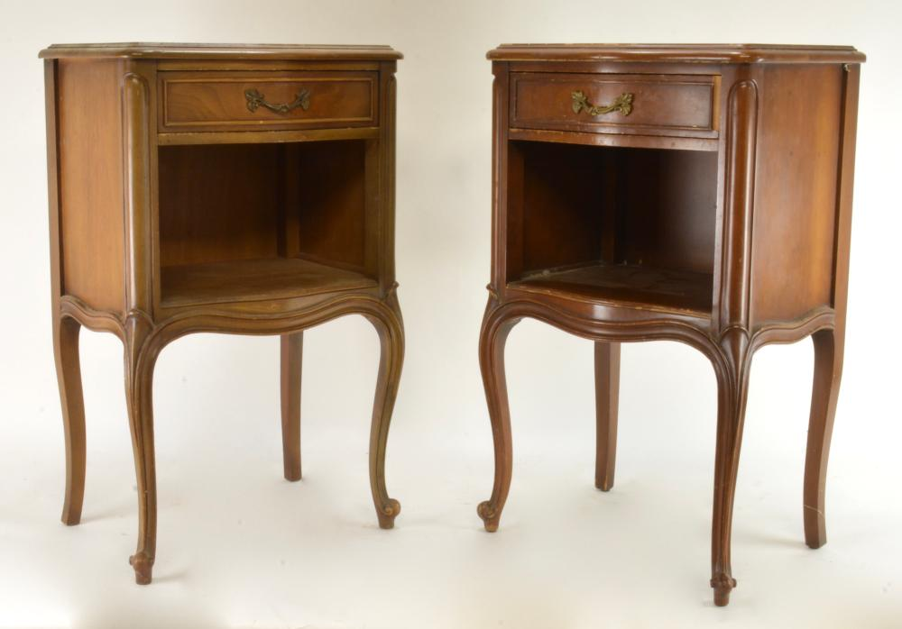 Pair Vintage French Provincial End Tables