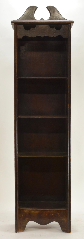 Vintage Mahogany Open Bookcase