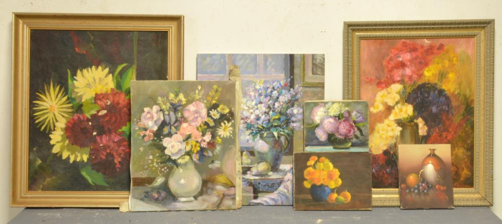 Antique Estate Art Paintings And Prints Group Lot Collection