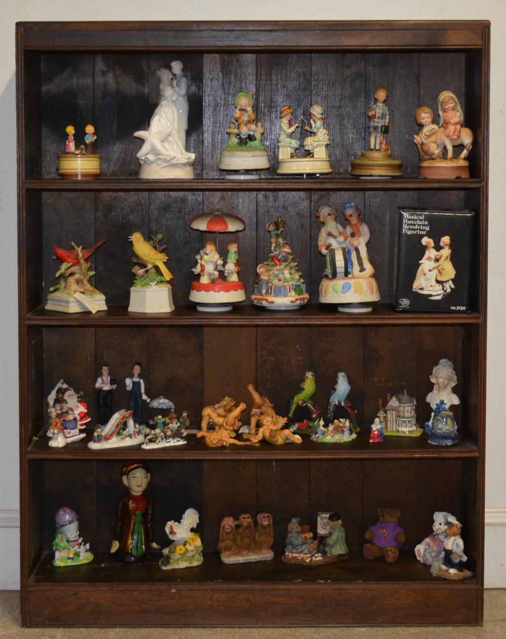 Antique Bookcase And Contents