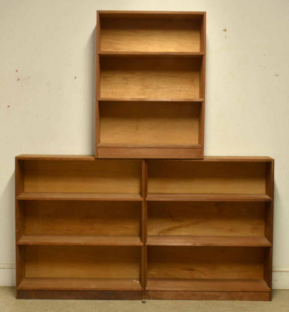 (3) Vintage Wooden Bookcases