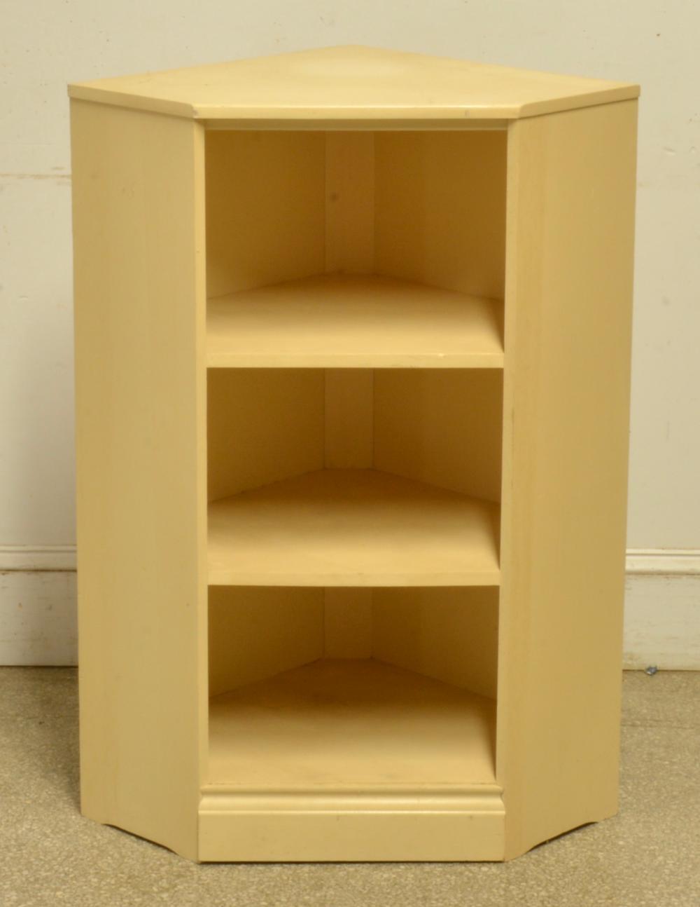 Vintage Wooden Corner Bookcase