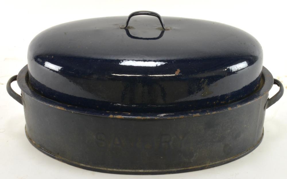 Vintage Savory Blue Enamel Boiler