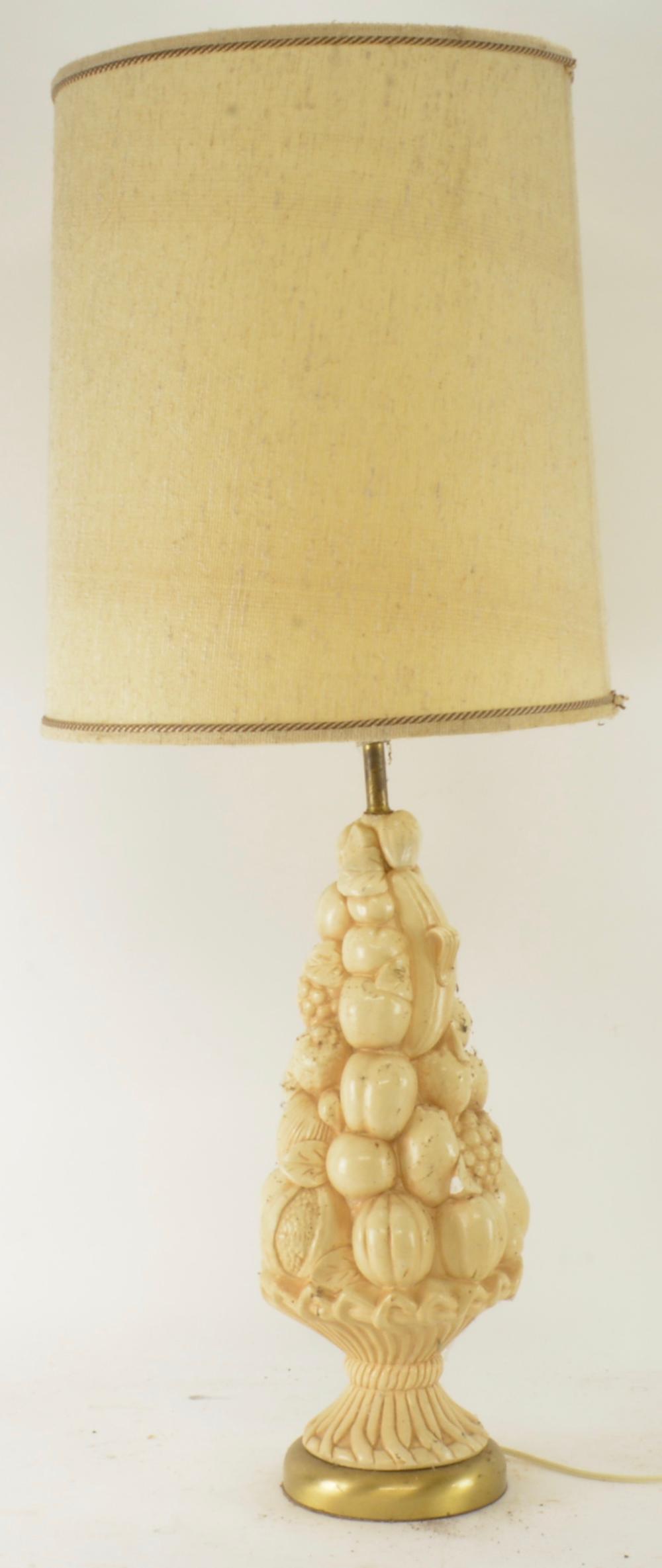 Mid Century Italian Tall Fruit Urn Lamp
