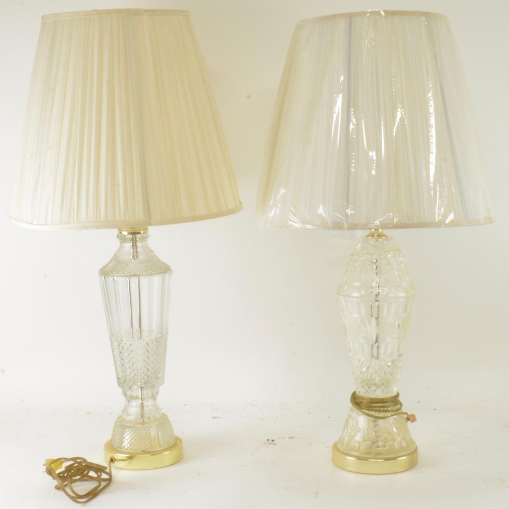 (2) Vintage Fine Crystal Lamps