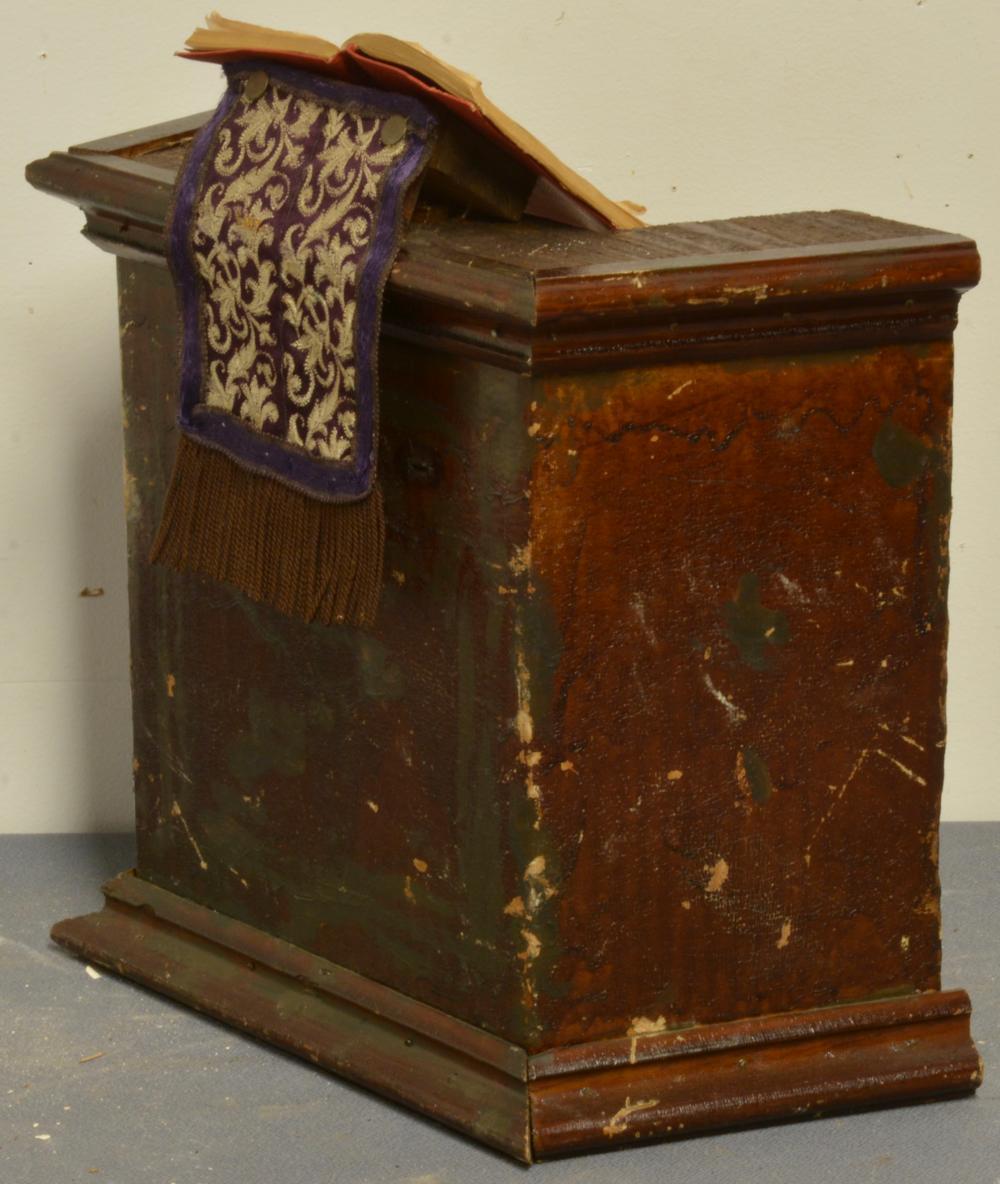 Antique Handmade Wooden Childs Christian Lectern