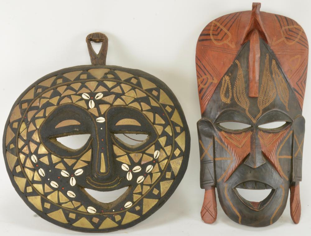Vintage Handmade Wood Tribal Mask