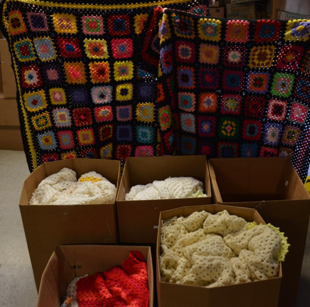 Vintage Handmade Afghan Textiles Estate Collection