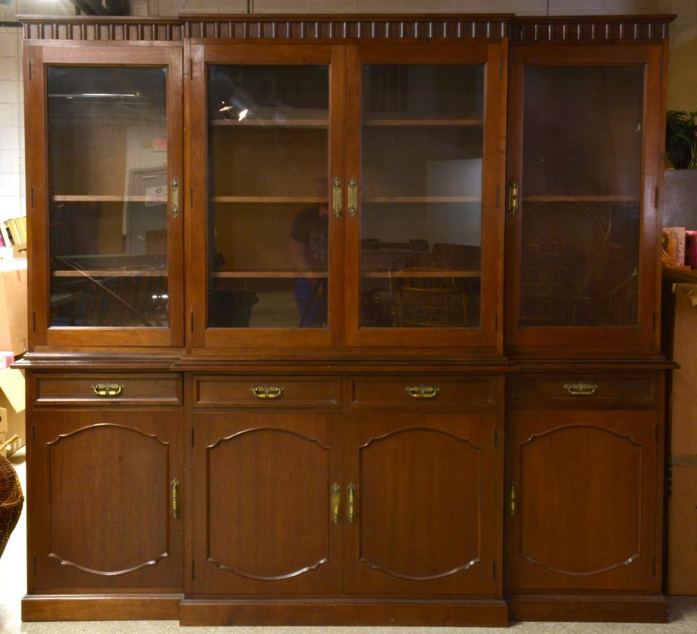 Formal Mahogany Dining Room Breakfront China Cabinet
