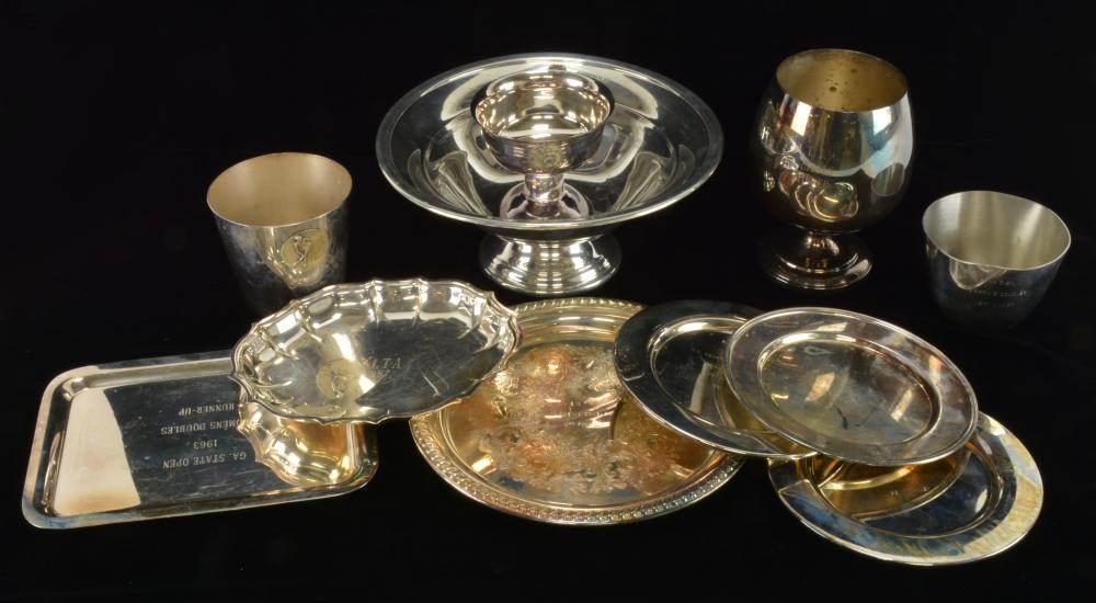 Vintage Pinehurst N.C. Trophy Silver Plate Estate Collection