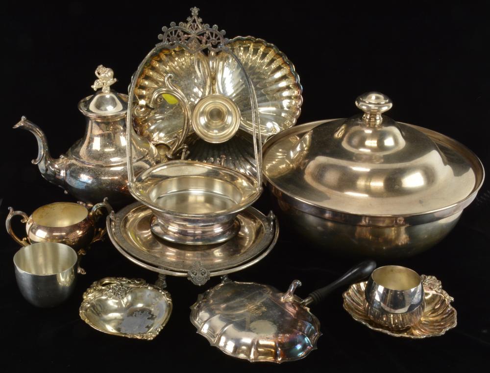 Vintage Silver Plate Estate Collection