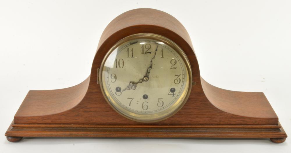 Vintage German Westminster Chime Tambour Clock