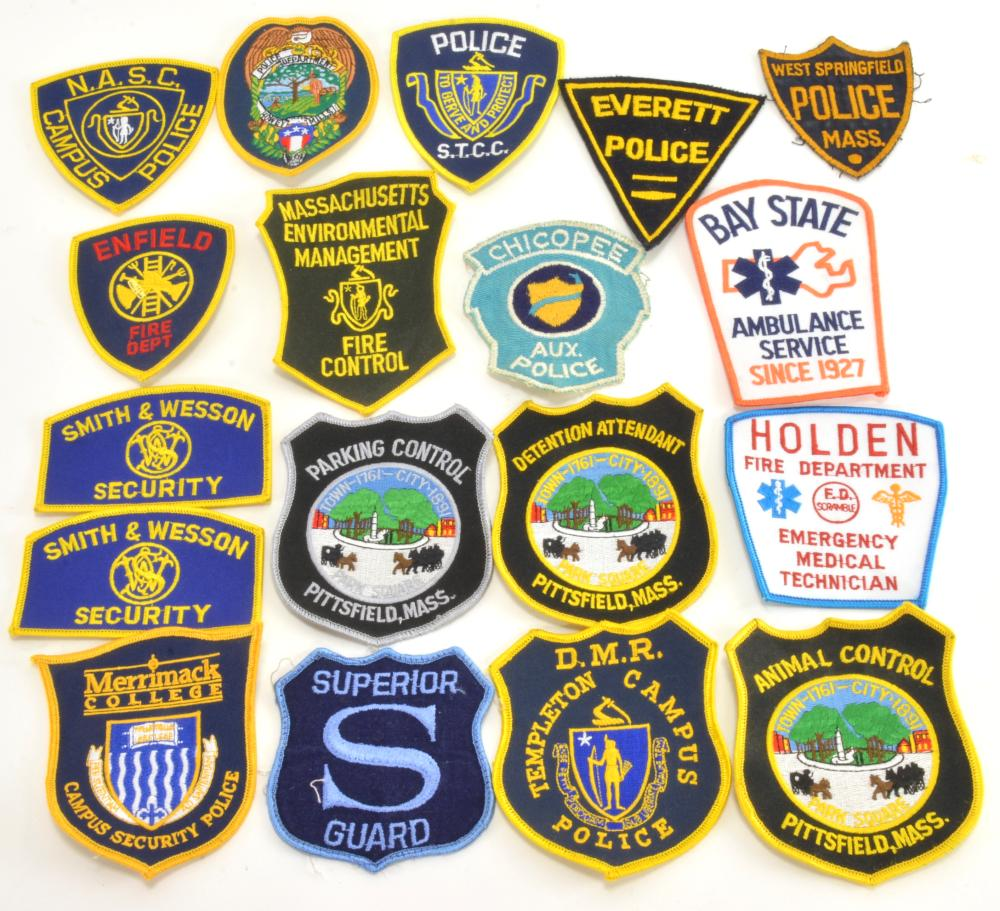 Vintage Police Fire Security Uniform Patches