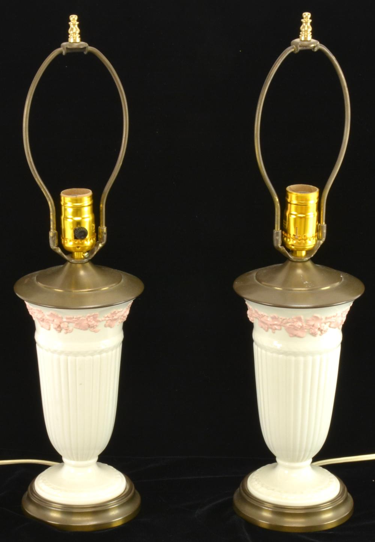 Pair Wedgwood China Lamps