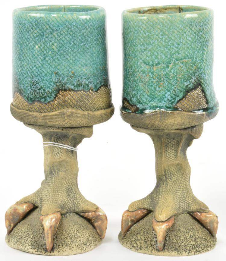 Richard Marshall Ceramic Talon Goblets