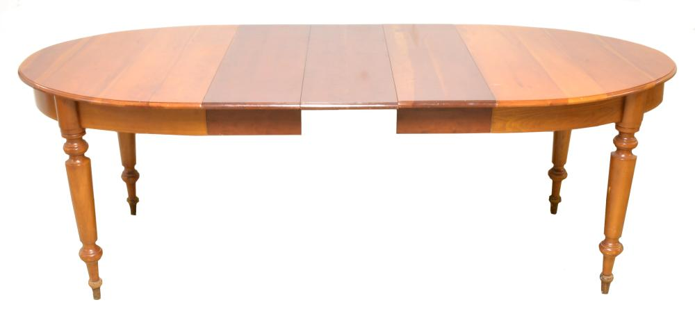 Lot 267: Antique Cherry Dining Room Table