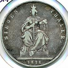 1871, Germany Prussia, Thaler