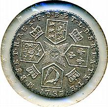 1787, Great Britain, Hearts Variety, 6 Pence
