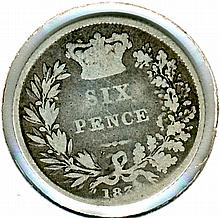 1837, Great Britain, 6 Pence (Low Mintage)