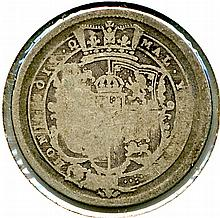 1816, Great Britain, George III, Shilling