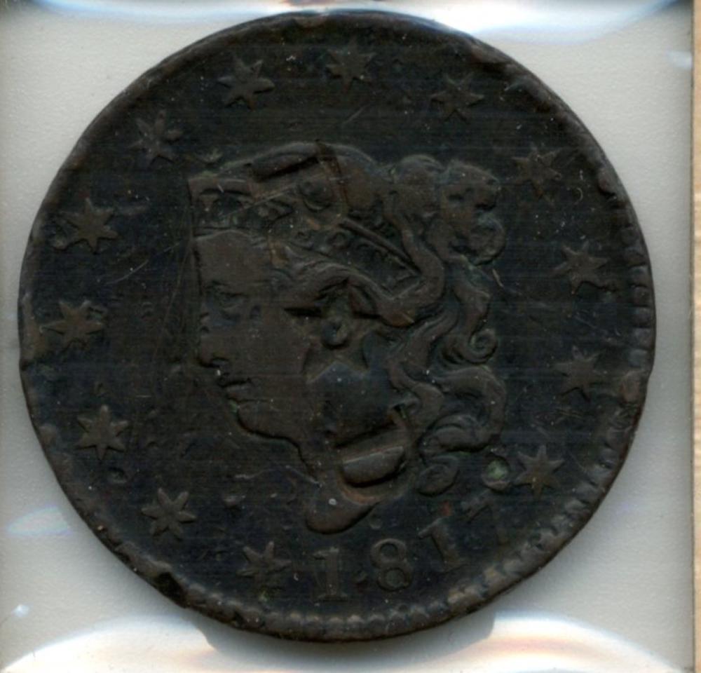 1817 U.S. Coronet Head Large Cent