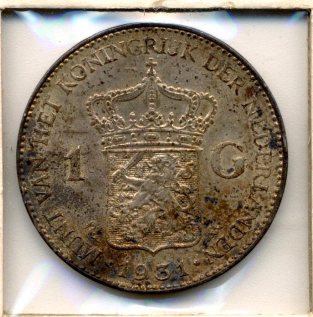 1931 Netherlands Silver 1 Gulden