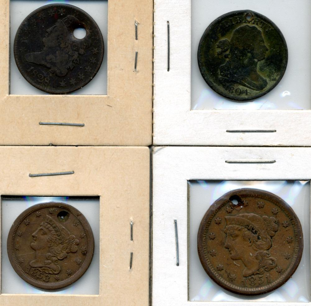 (4) Early U.S. Copper Coins