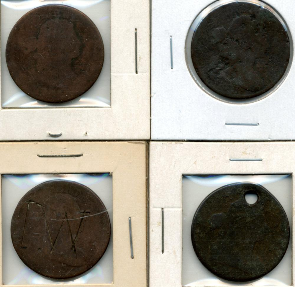 (4) Early U.S. Copper Large Cents