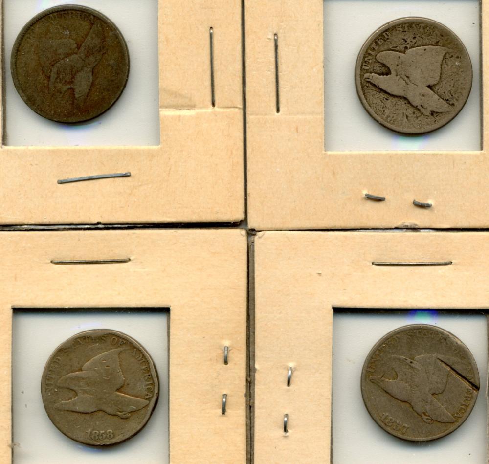 (4) Original U.S. Flying Eagle Cents