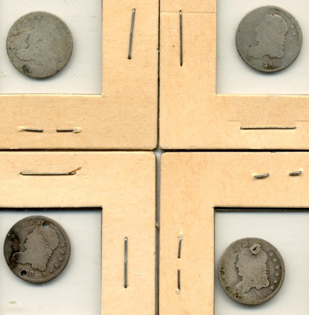 (4) Original U.S. Bust Half Dimes