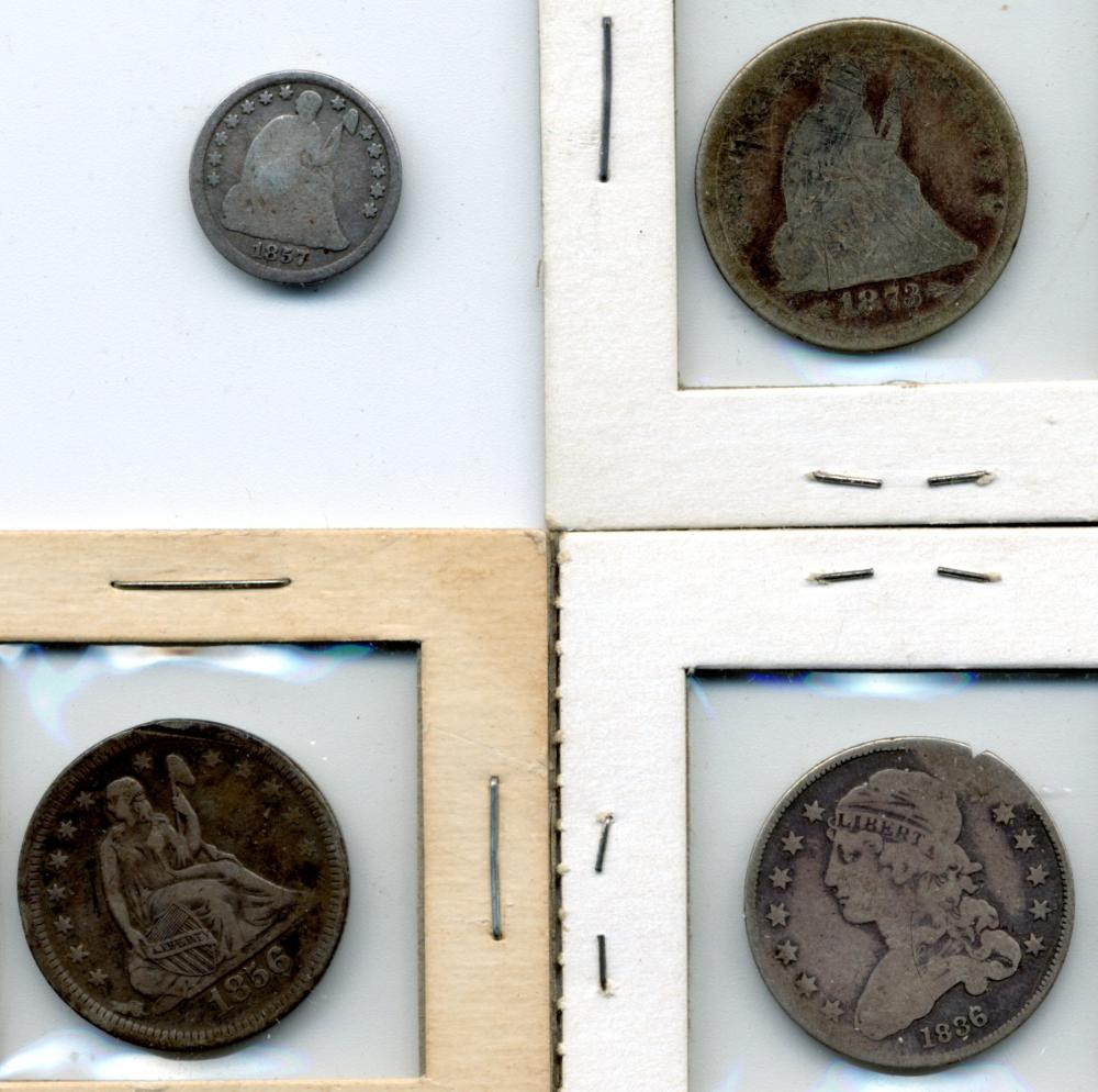 (4) Original Early U.S. Type Silver Coins