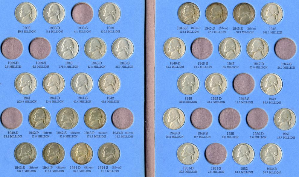 (430) Jefferson Nickels and Lincoln Cents