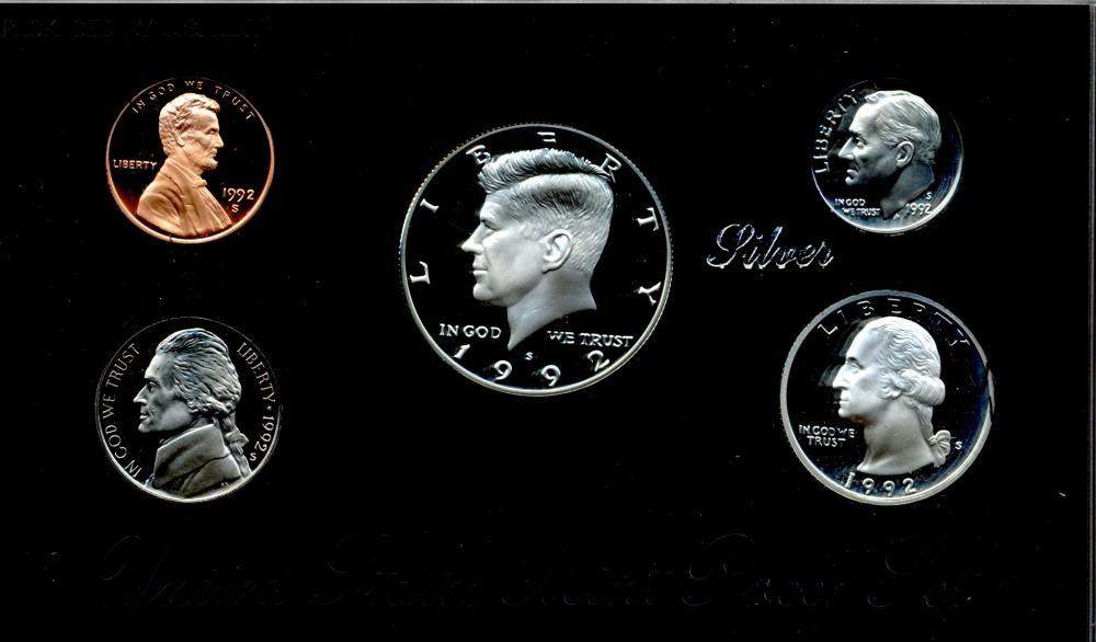1992 U.S. Mint Silver Proof Set