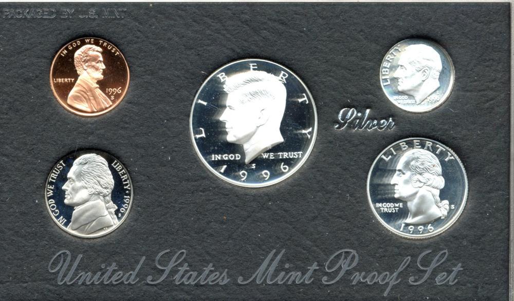 1996 U.S. Mint Silver Proof Set