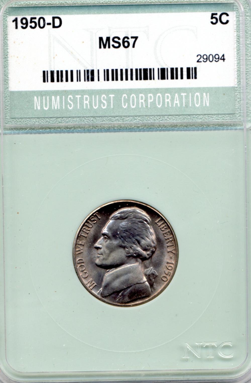 1950 D Jefferson Nickel