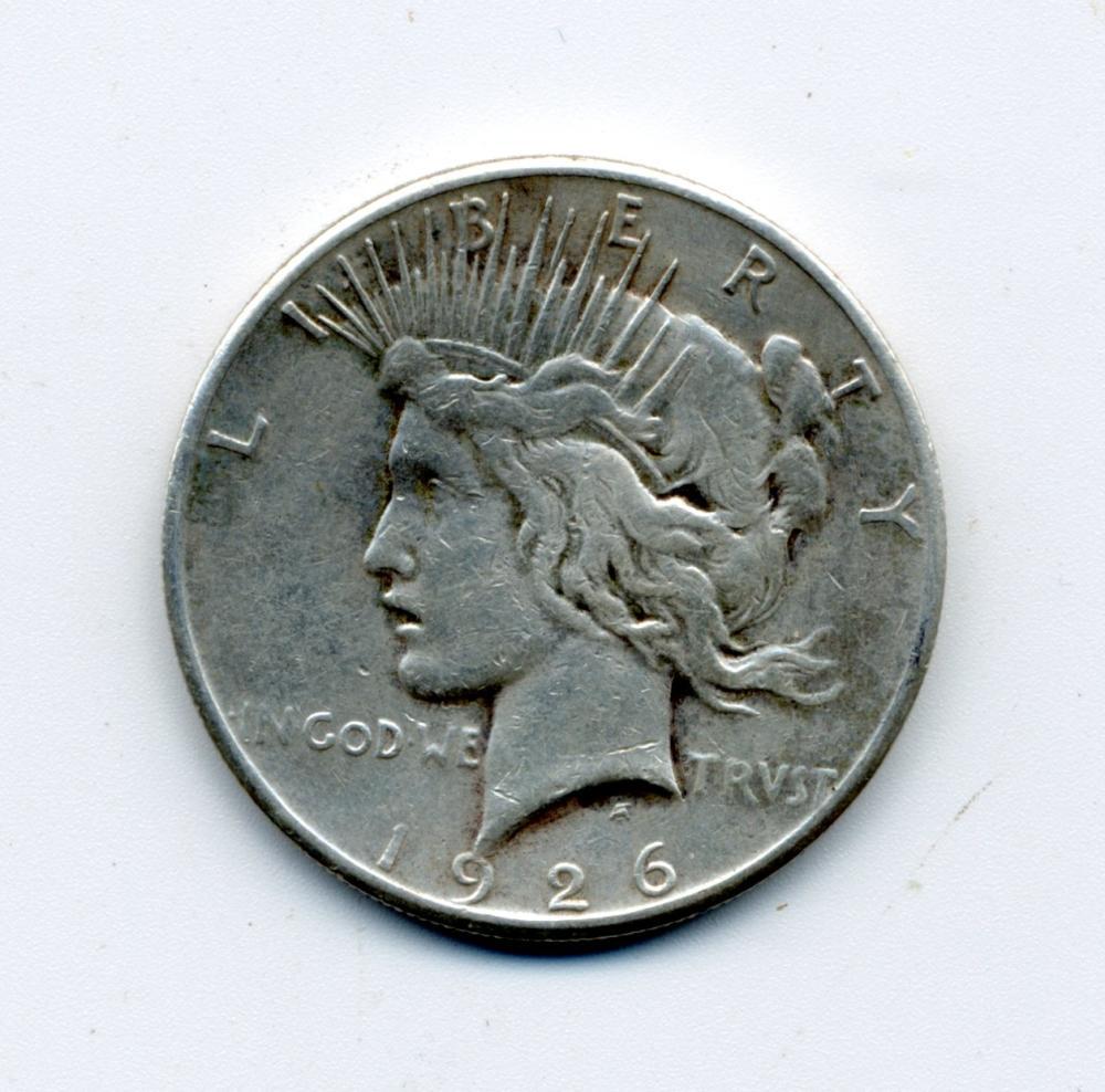 Original 1926 S Peace Dollar