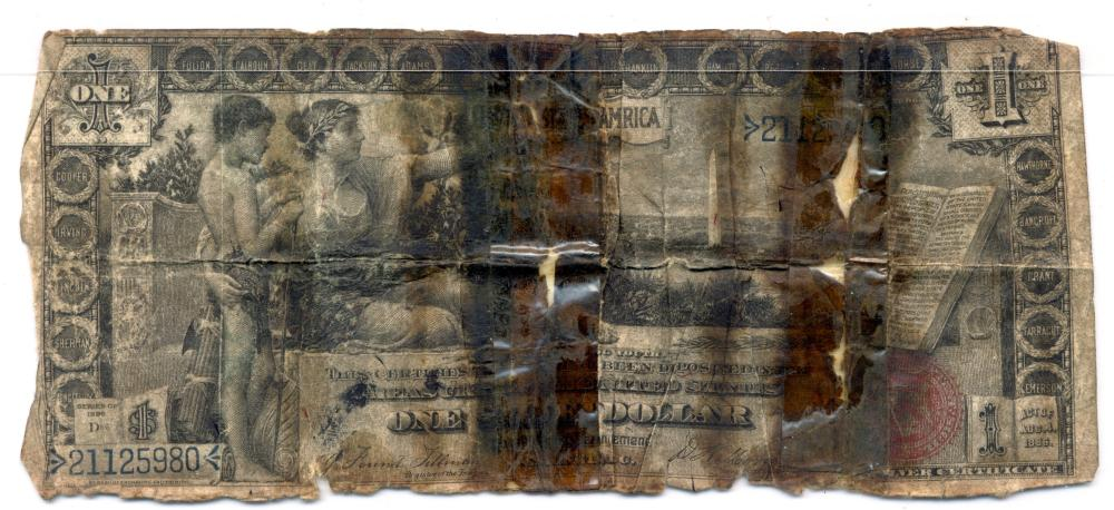 1896 $1.00 Educational Currency Note