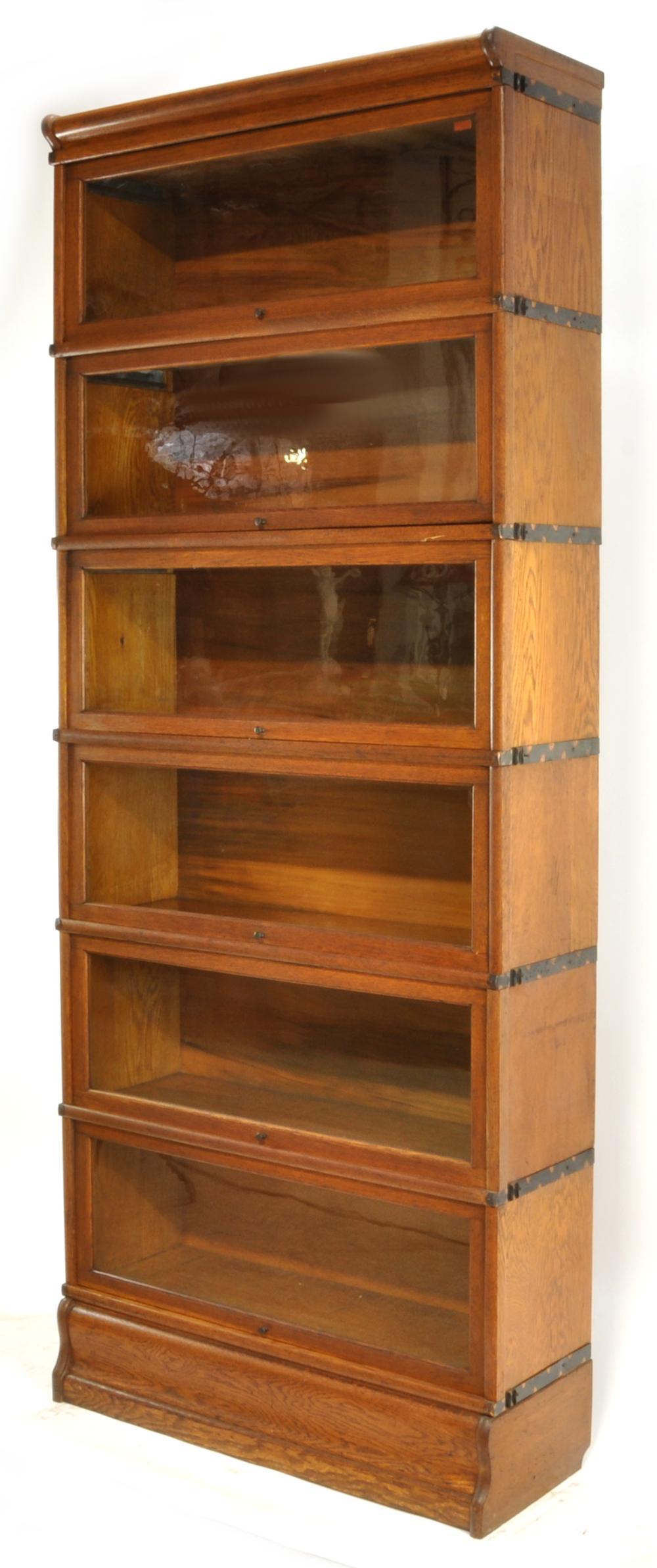 Globe Wernicke 6 Stack Oak Barrister Stacking Bookcase