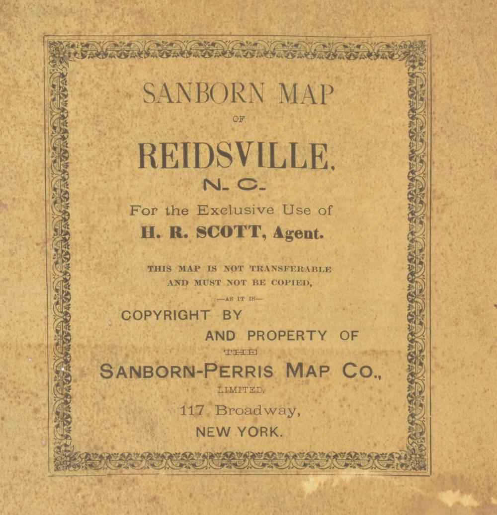 Mr. Scott Personal Map Of Reidsville NC 1908 Sanborn Map Com on sanborn insurance maps, sanborn maps chicago, sanborn fire company, sanborn fire maps,