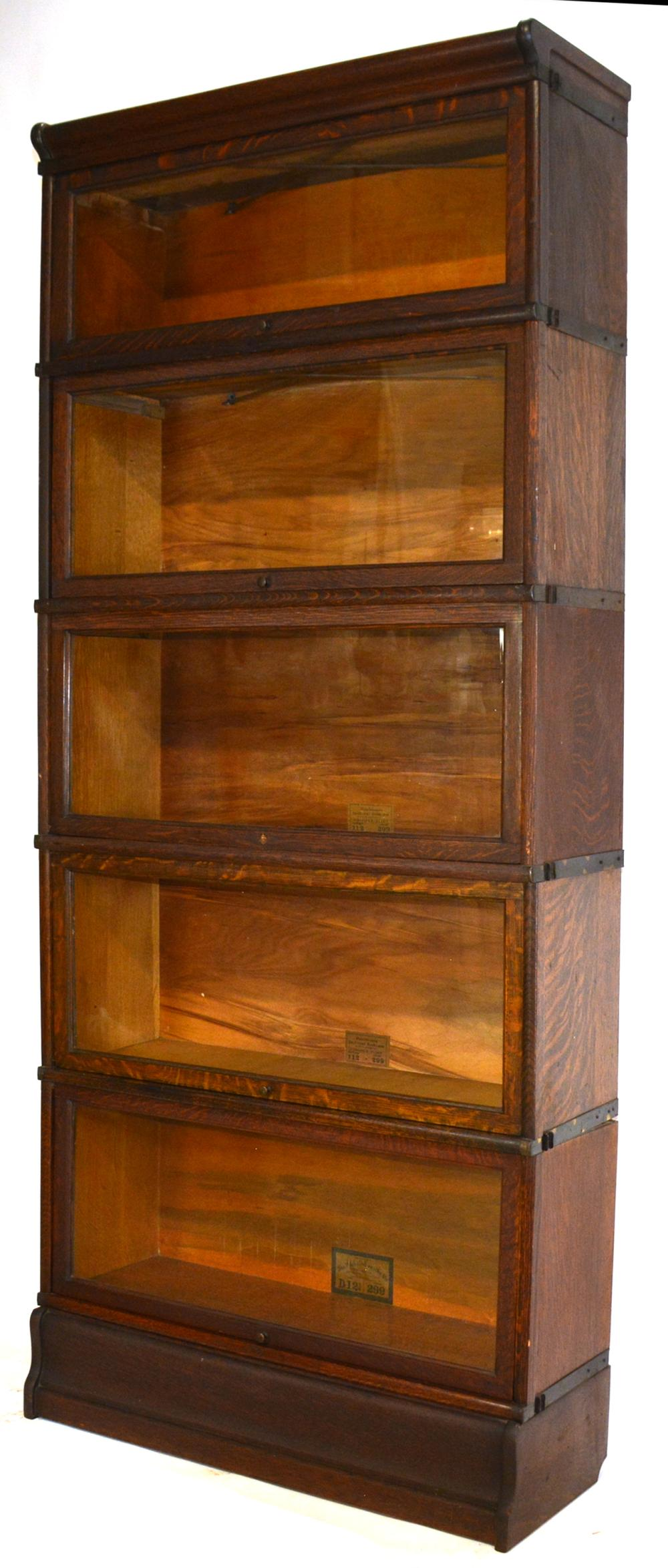 Formal Mahogany 6 Stack Barrister Bookcase Melrose Library