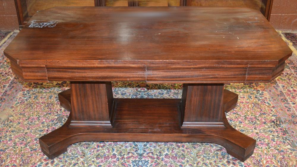 Early American Mahogany Empire Style Library Table